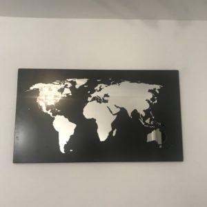 Carte du monde métal / miroir